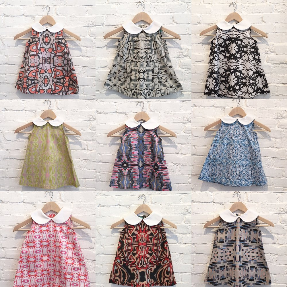 "The ""Lucy"" dress, available sizes 12-18 months - 8T, $135"