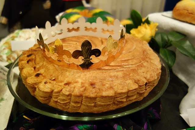 Almond King Cake at La Boulangerie, New Orleans