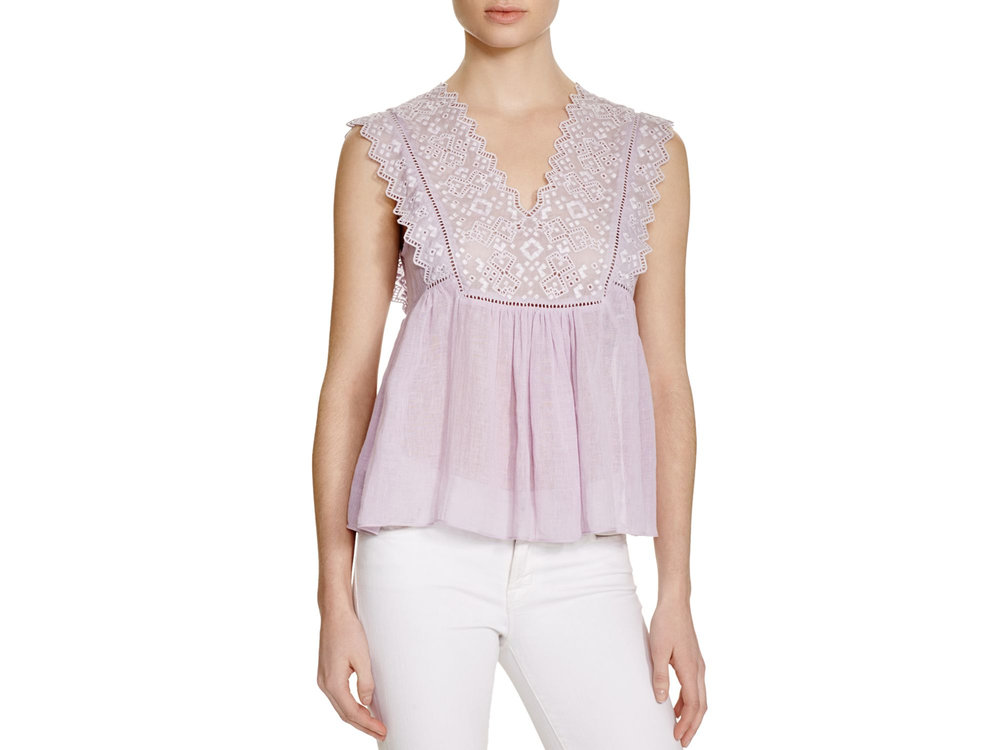 My versatile Rebecca Taylor top from Azby's -- a chameleon that goes casual or semi-dressy with a quick change of pants.