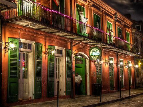 The exterior of fan favorite Pat O'Brien's