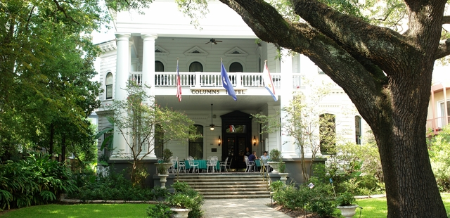 the historic Columns Hotel on St. Charles Avenue