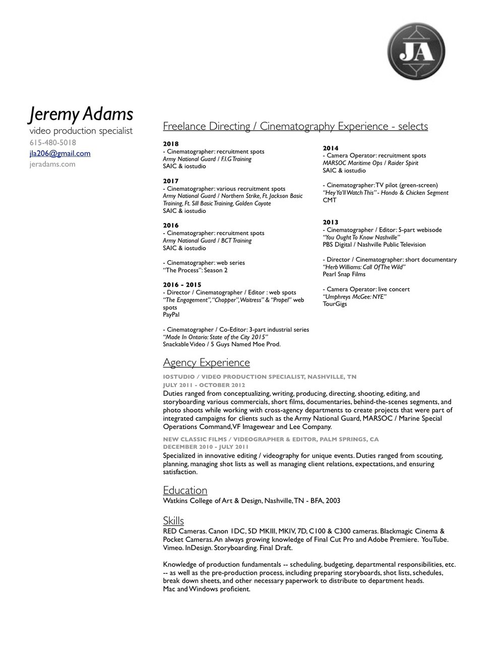 J Adams Video Resume 2018 (1).jpg