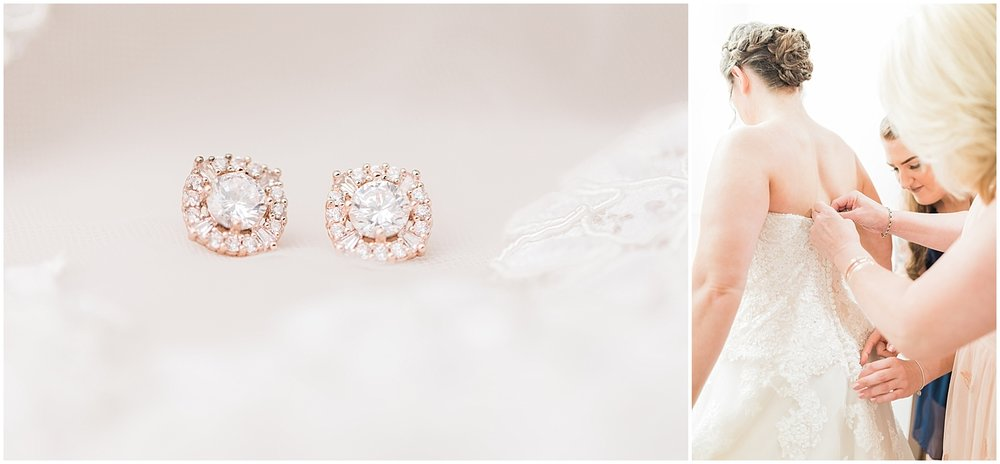 Simple studs wedding jewelry by Alyssa Parker Photography