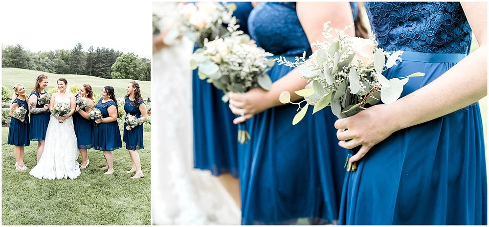 Navy blue Bridesmaid Dresses by Alyssa Parker Photography