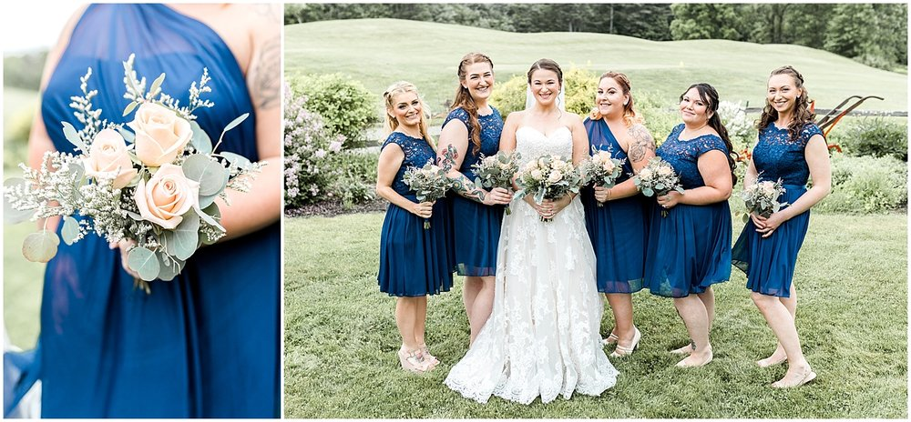 rose bridesmaid bouquets by Alyssa Parker Photography