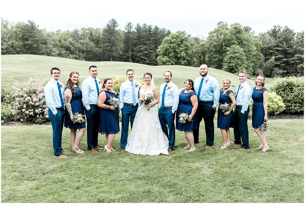 Formal wedding party by Alyssa Parker Photography