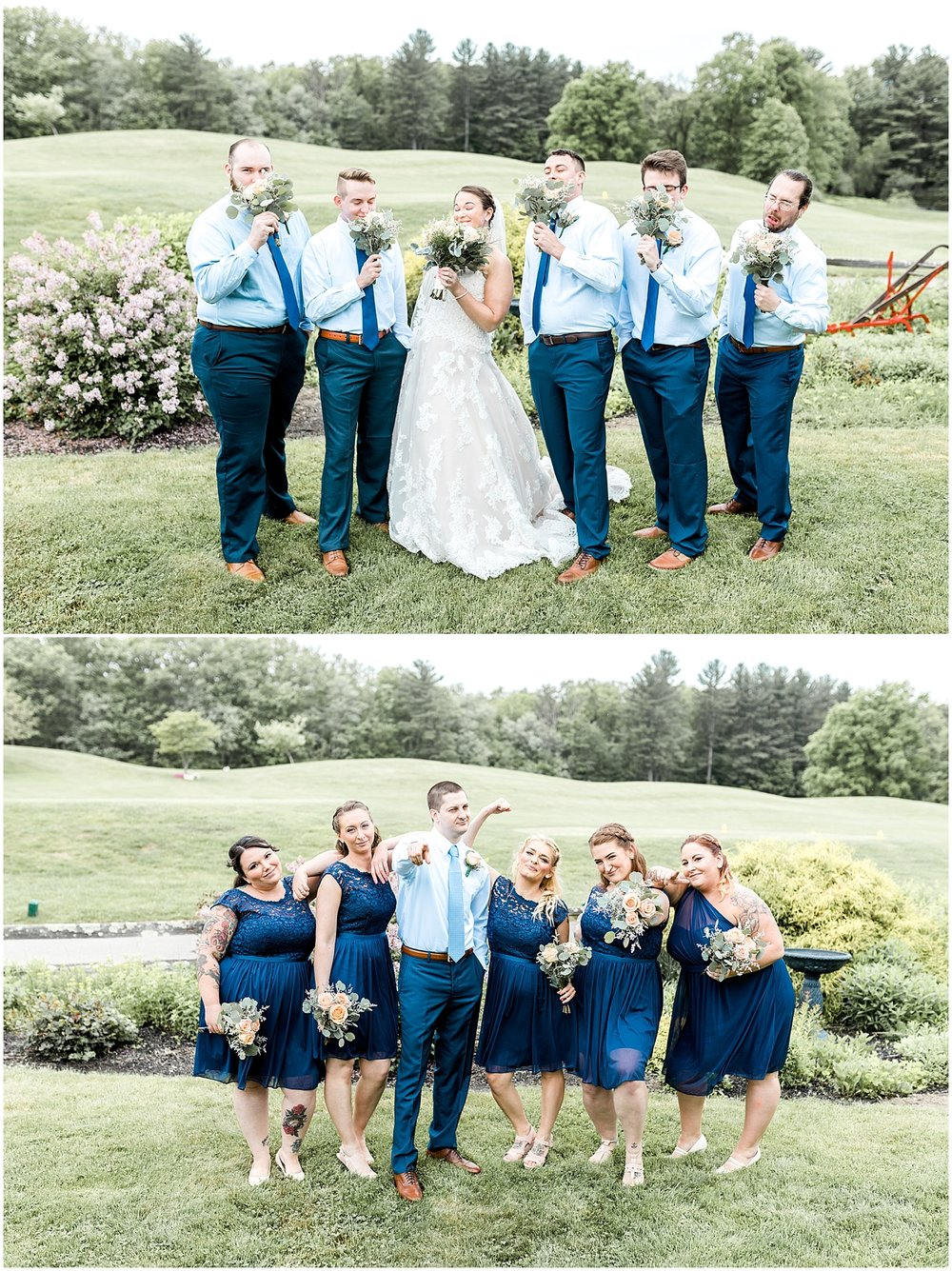 Fun silly wedding party photos by Alyssa Parker Photography