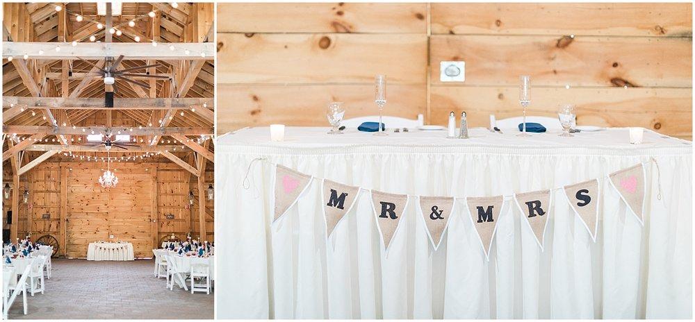 Barn Reception Details by Alyssa Parker Photography