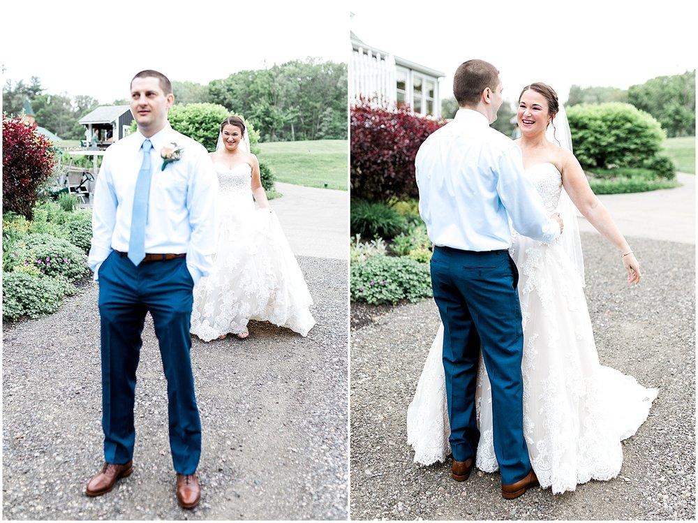 First Look Before Ceremony by Alyssa Parker Photography
