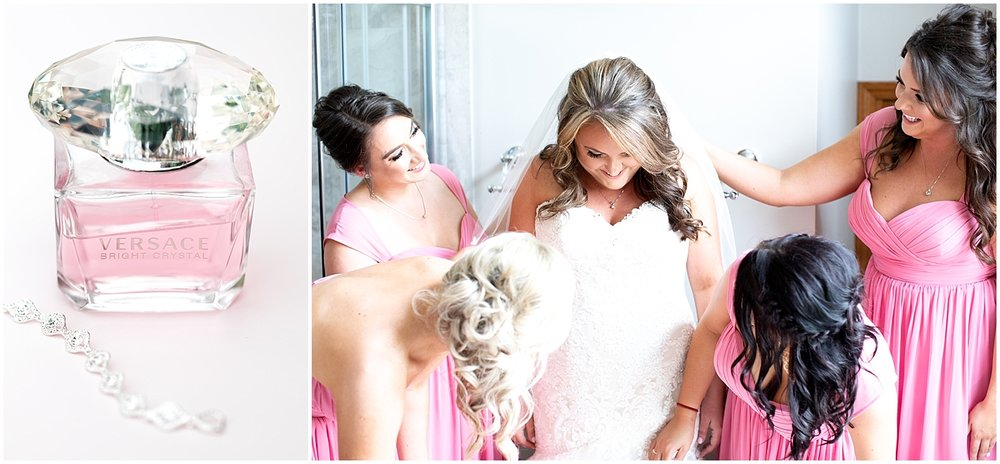 Bride and Bridesmaids Getting ready Alyssa Parker Photography
