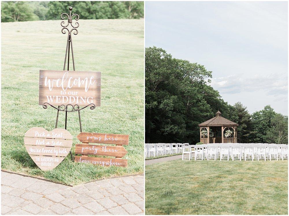 Ceremony at Zukus hilltop barn Alyssa Parker Photography