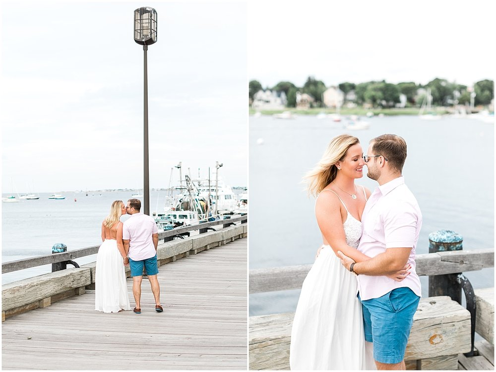 White dress engagement outfit by alyssa parker photography
