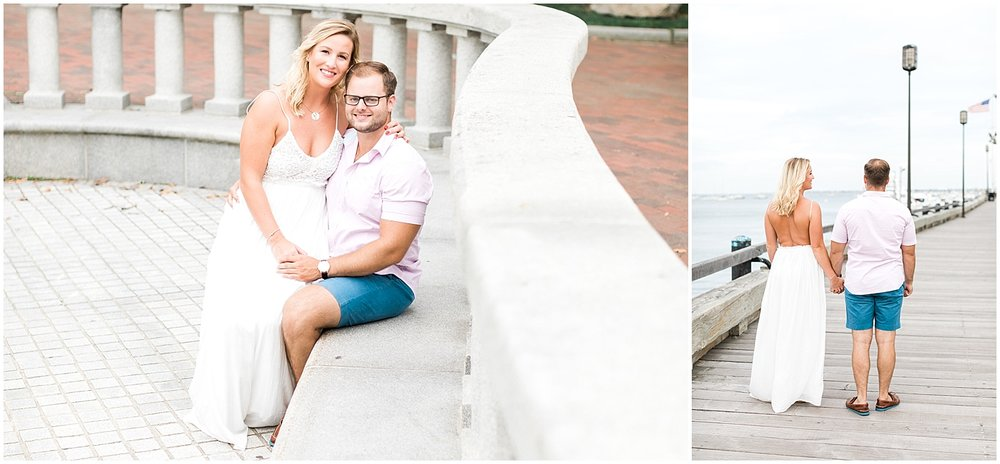 Engagement photos by the sea by alyssa parker photography
