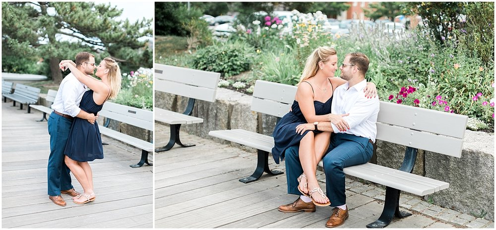 Garden engagement photos by Alyssa parker photography