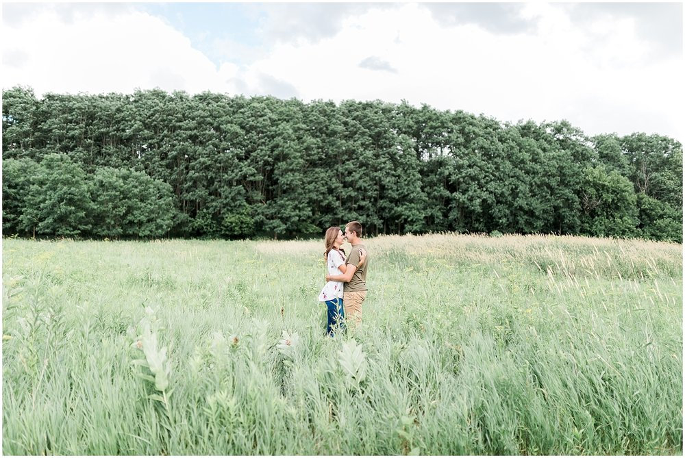Field engagement photo Alyssa Parker Photography