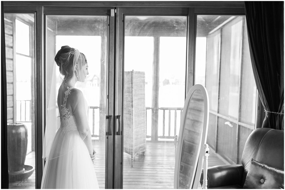 final moments before walking down the aisle by Alyssa Parker Photography