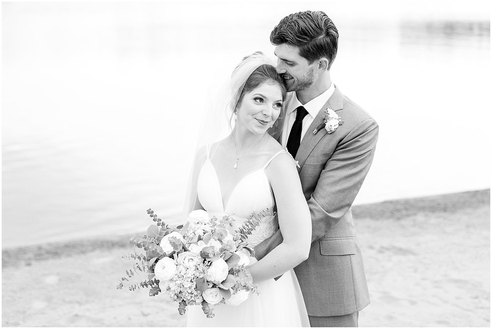 Black and white couple wedding portrait by Alyssa Parker Photography