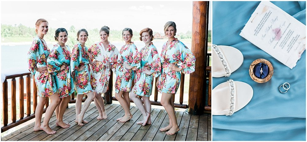 Bridesmaids floral robe photos by Alyssa Parker Photography