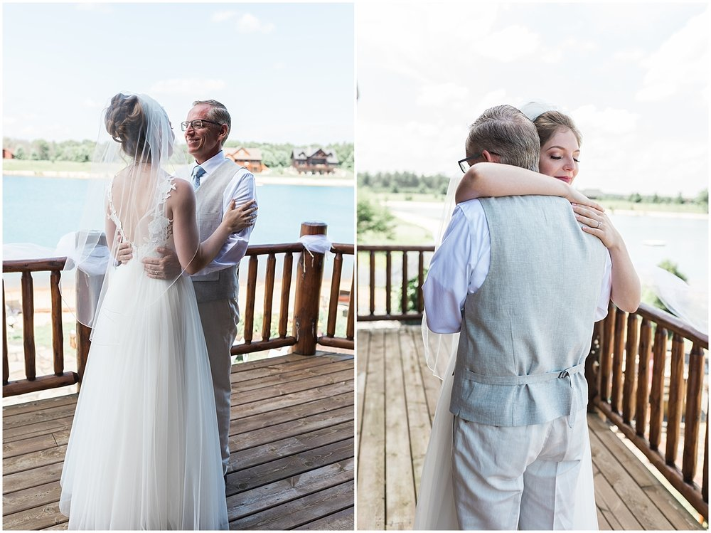 Precious father daughter first look moment by Alyssa Parker Photography
