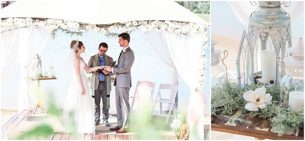 Exchanging rings outdoor ceremony by Alyssa Parker Photography