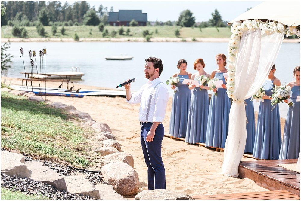 Grooms brother sings at ceremony by Alyssa Parker Photography