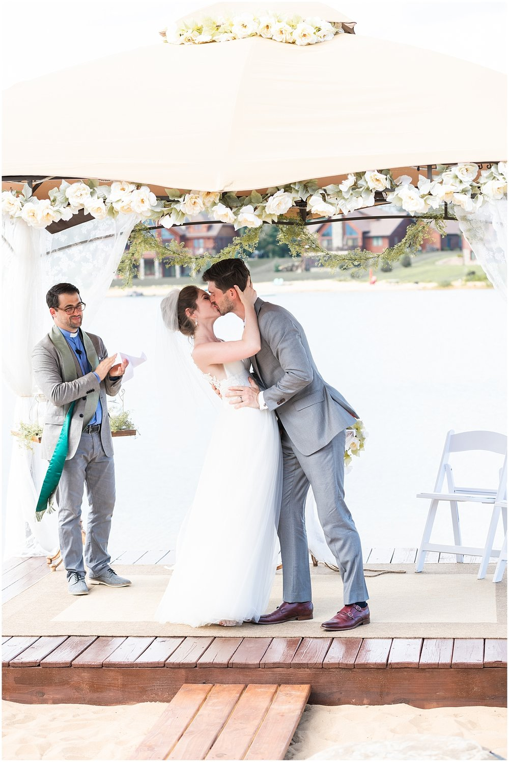 the perfect first kiss as husband and wife by Alyssa Parker Photography