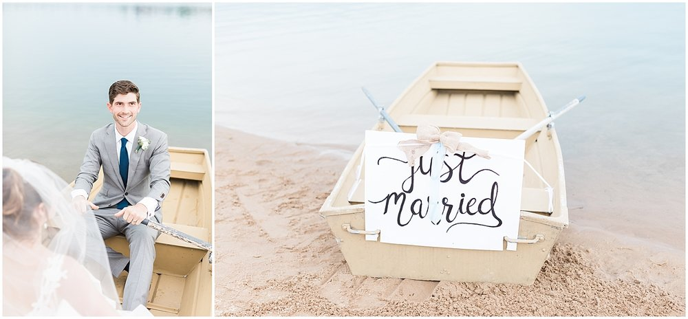 Just married boat by Alyssa Parker Photography