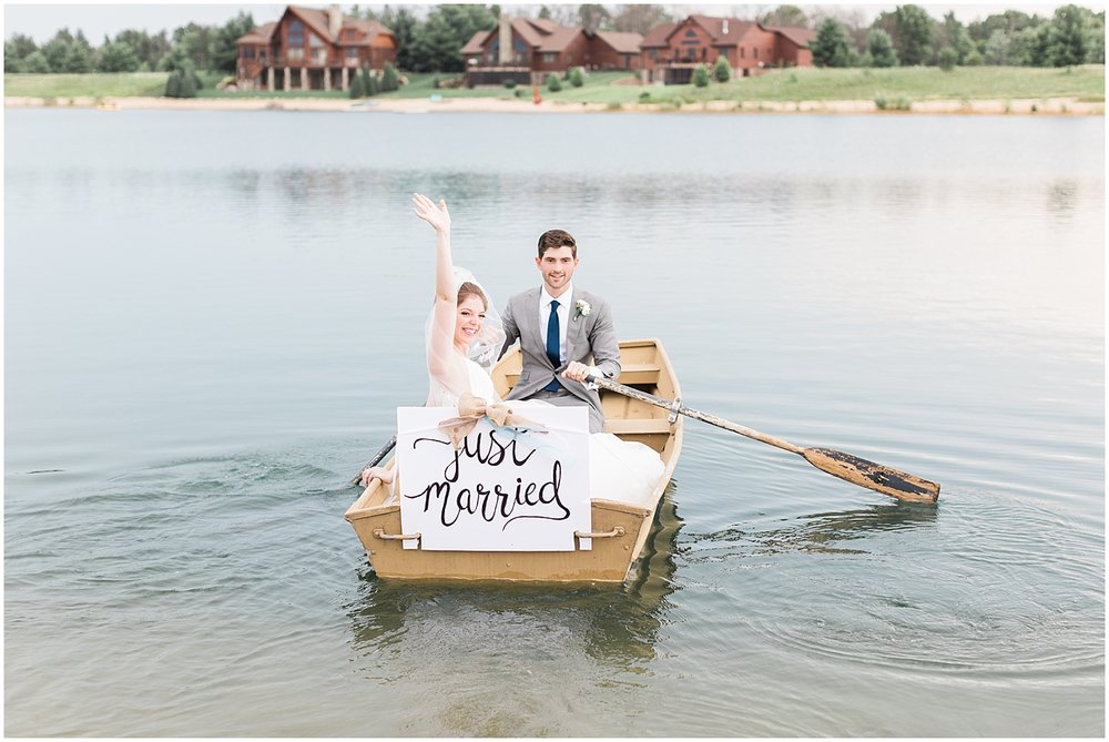 row boat wedding portraits by Alyssa Parker Photography