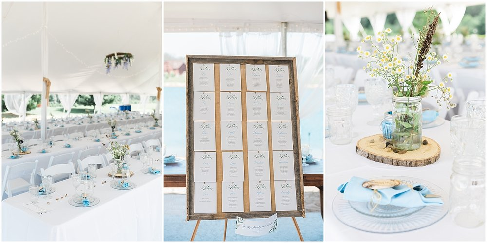 Reception details outdoor tent wedding by Alyssa Parker Photography