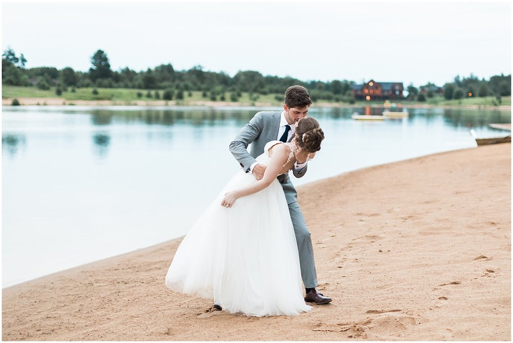 bride and groom dip destination photography by Alyssa Parker Photography