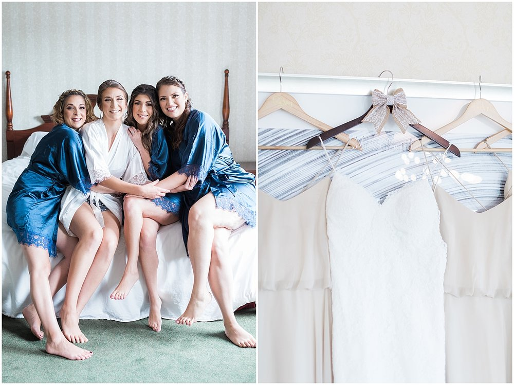 Navy Bridesmaids Robes Photo by Alyssa Parker Photography