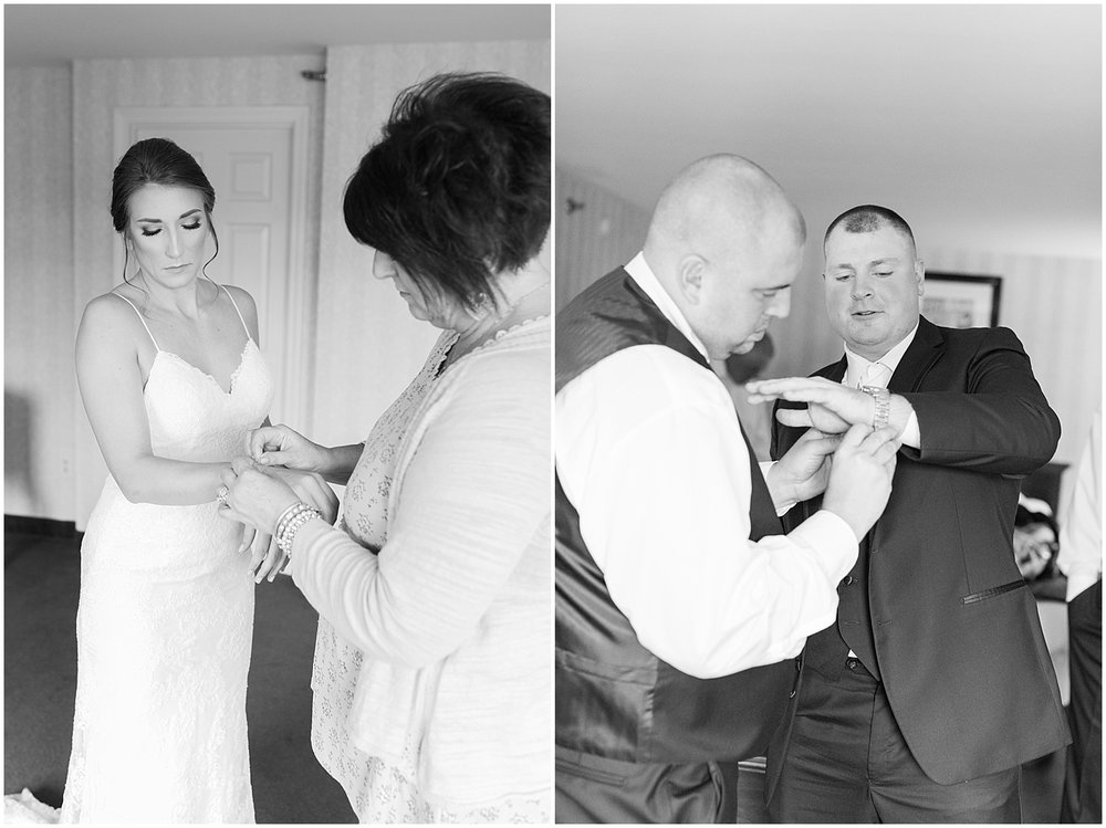 Bride & Groom getting ready Photo by Alyssa Parker Photography