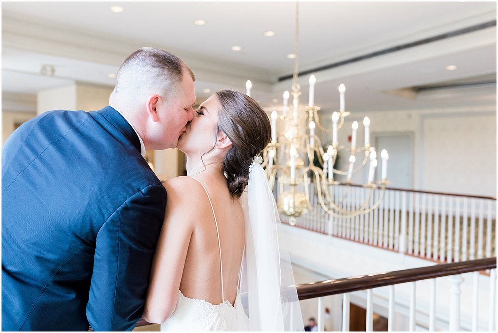 Indoor bride and groom portraits by Alyssa Parker Photography