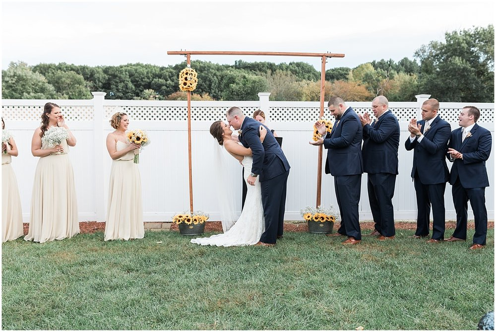 ceremony kiss photo by Alyssa Parker Photography