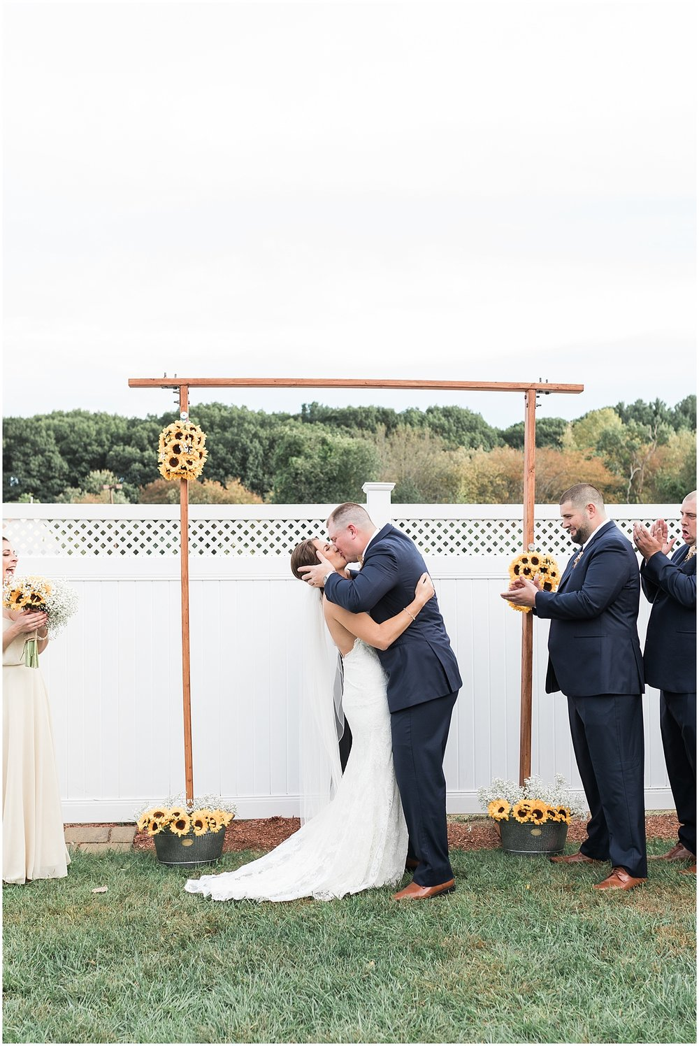 first kiss as husband and wife photo by Alyssa Parker Photography