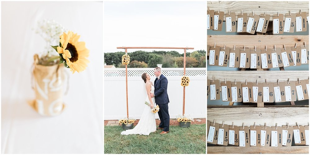 sunflower decorations photo by Alyssa Parker Photography