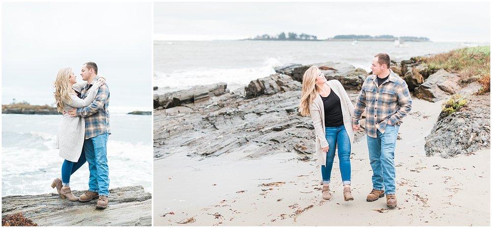 Cape Elizabeth Couples Session by Alyssa Parker Photography