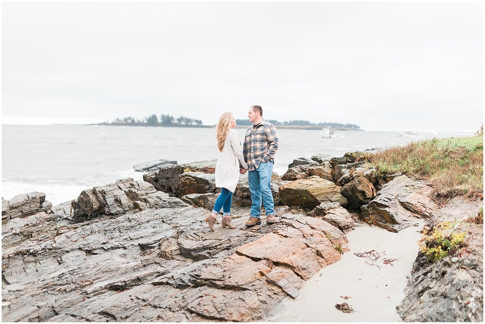 Rocky Coast Engagement Photos by Alyssa Parker Photography