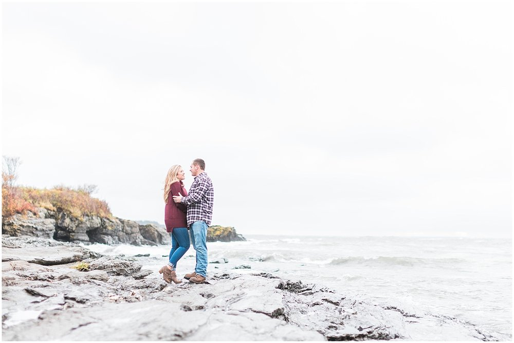 Maine Coast Couples Session by Alyssa Parker Photography