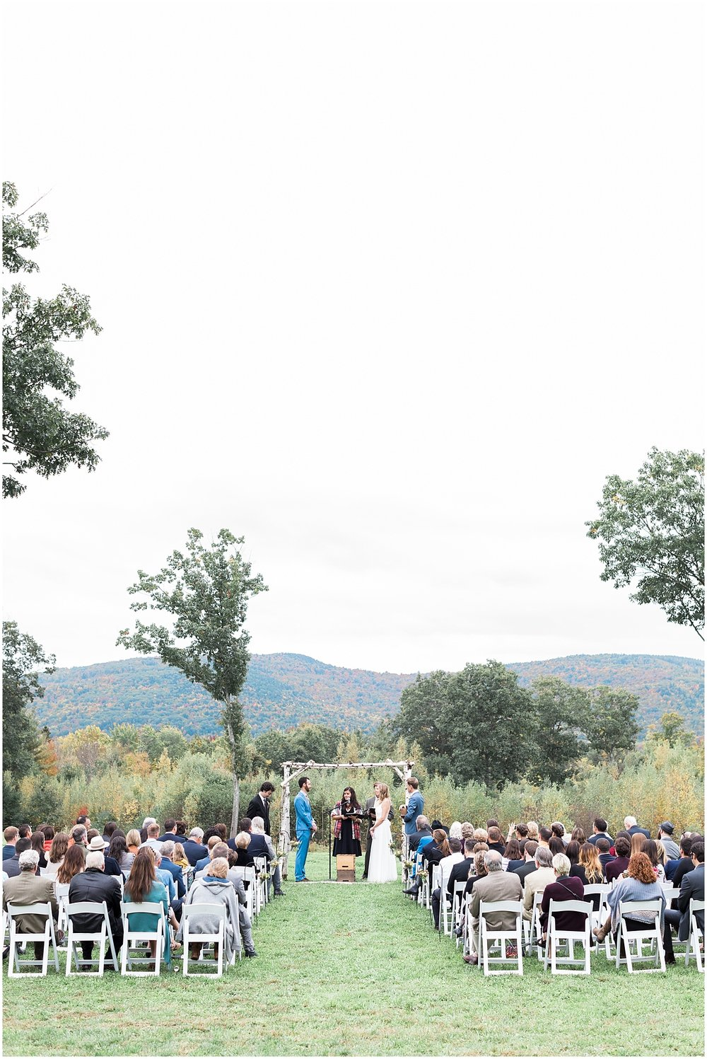 Outdoor New Hampshire Ceremony with a View photo by Alyssa Parker Photography