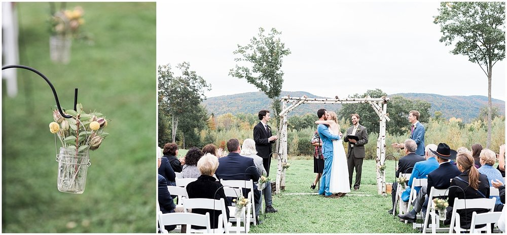 outdoor Ceremony Rustic details by Alyssa Parker Photography