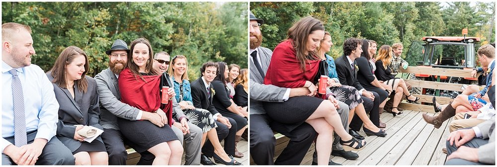 Tractor ride to Ceremony by Alyssa Parker Photography