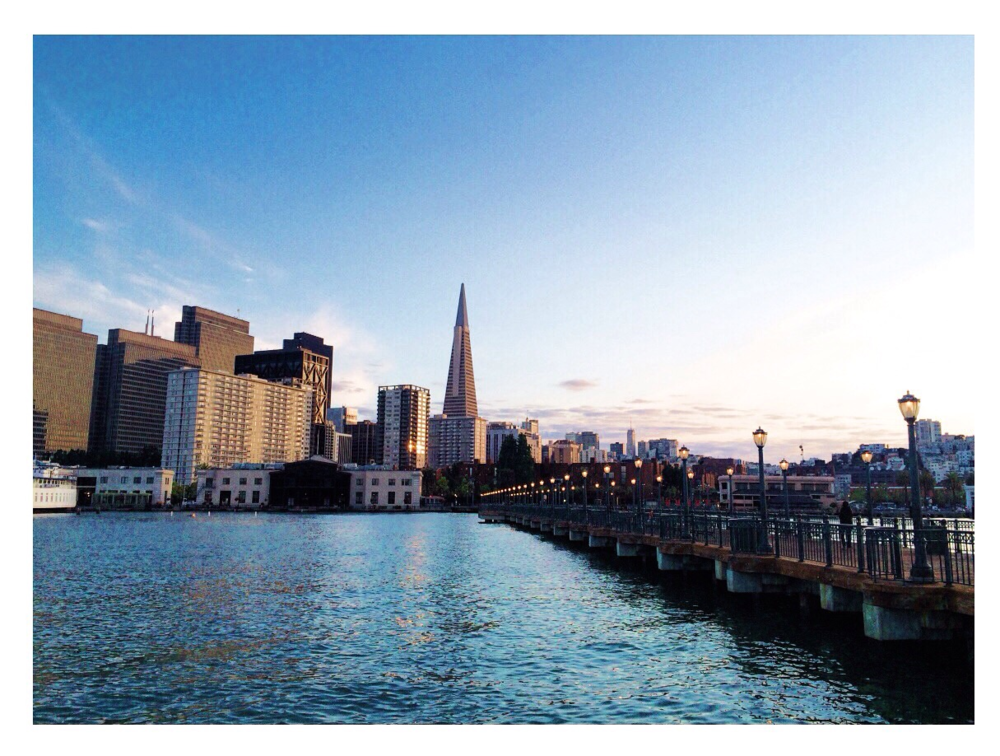 Transamerica Pyramid and FiDi from Pier 7