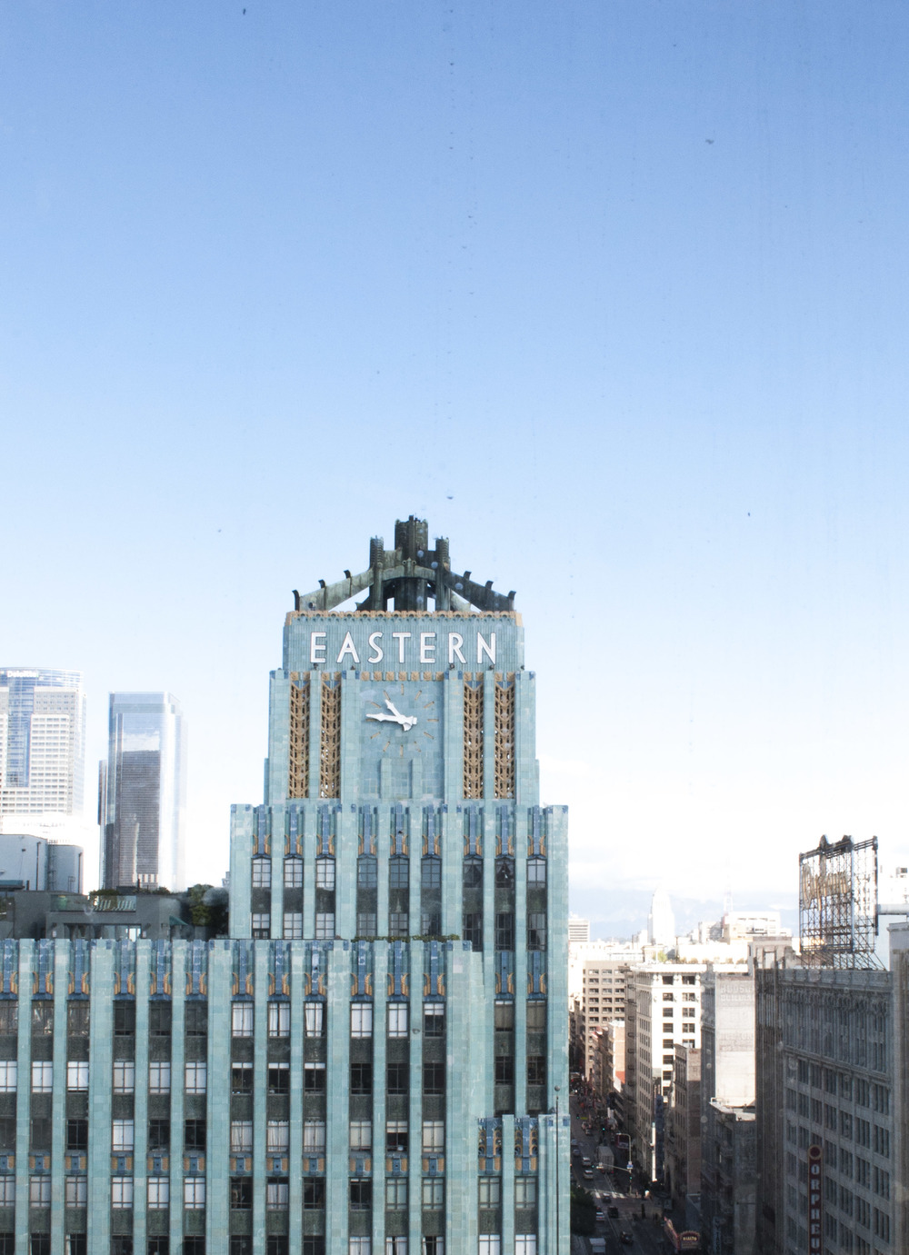 View from Upstairs at the Ace Hotel in DTLA