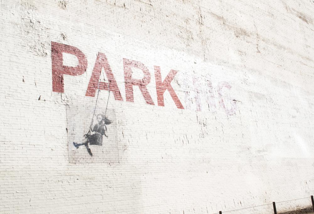 Banksy Parking in DTLA