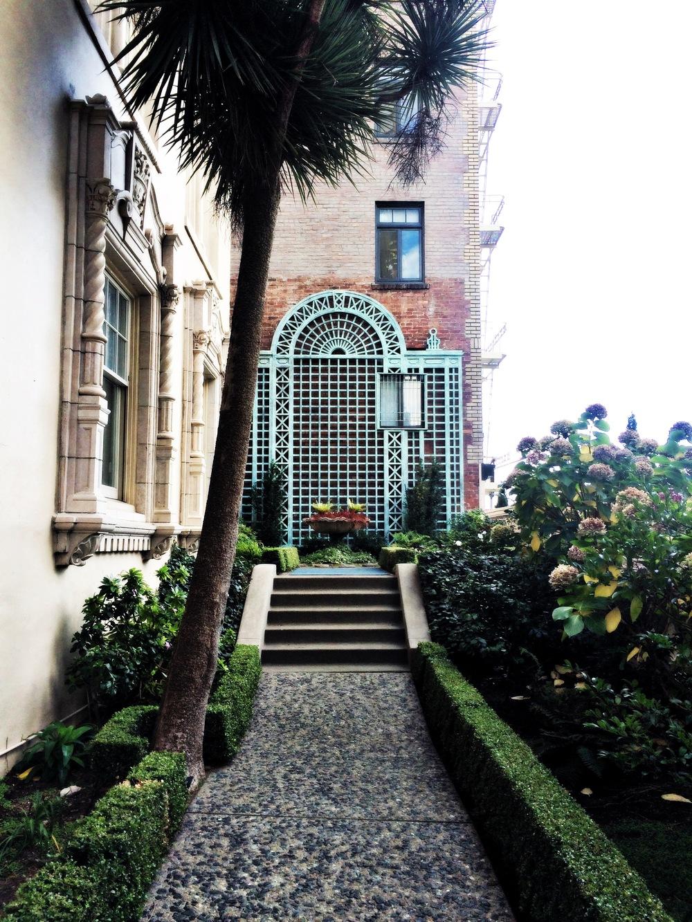 Garden courtyard on Nob Hill