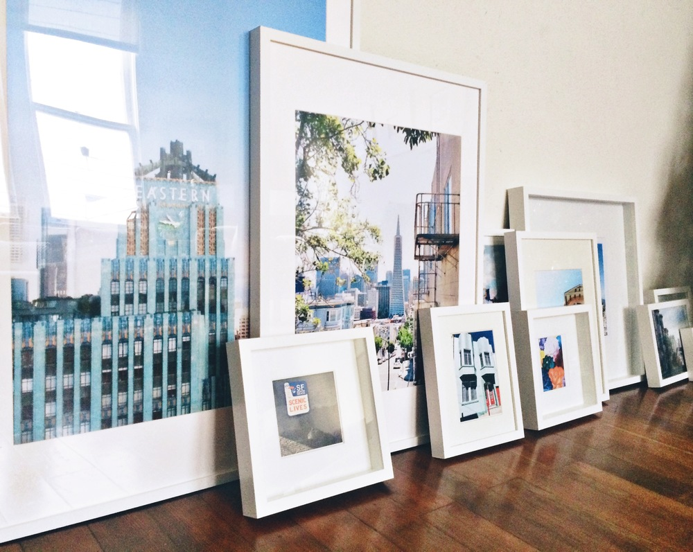 Ikea Ribba frames finally full of pretty images