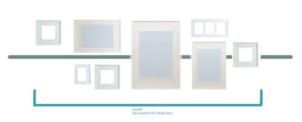 Gallery wall layout plan