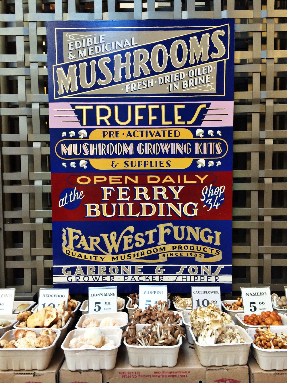 Shrooms at the Ferry Building