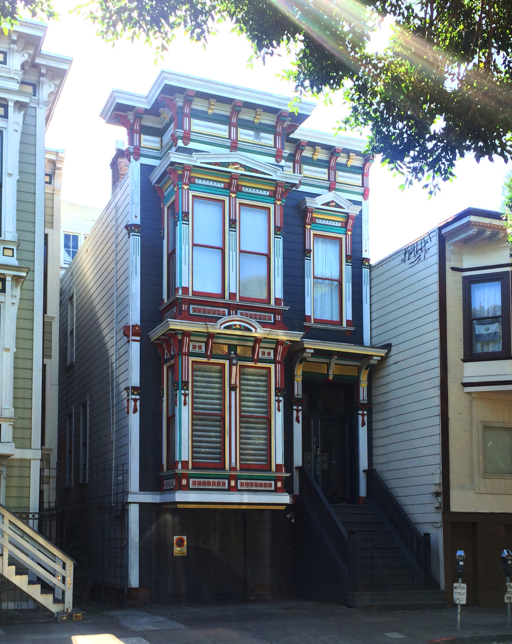 rainbow victorian architecture san francisco